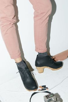 Garcia Leather Boot on High Heel in Black