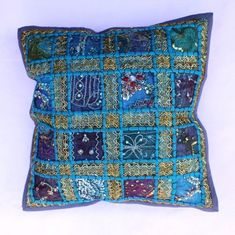 indian Handmade Patchwork cotton Cushion Cover Home Decor Pillow Cases KH109 #Handmade #Ethnic