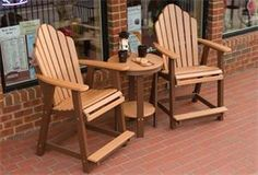 blue poly adirondack chair pinterest outdoor spaces and spaces rh pinterest com amish built composite outdoor furniture Amish Poly Lumber Outdoor Furniture