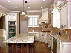 Delighful Antique White Cabinets Bathroom With Black Appliances Google Search And Inspiration