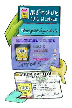If only Spongebob could keep his drivers license for more than five minutes