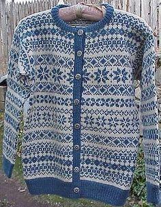 Label: Husfliden Oslo, Handknitted in Norway Fair Isle Knitting Patterns, Knit Patterns, Norwegian Knitting, Stocking Pattern, Vintage Sweaters, Diy Crochet, Knitting Projects, Knit Cardigan, Bunt