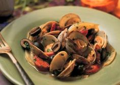 Steamed Clams with Spicy Sausage and Olives - California Ripe Olives