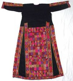 Embroidery from the 1970s | Palestinian costumes Embroidery Bedouin Handmade Dress 1940 1970