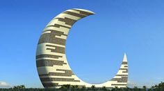 Get the Dubai answers you need. Ask the Dubai questions you want. Your most frequently asked questions on Dubai answered. Dubai Architecture, Beautiful Architecture, Architecture Design, Unusual Buildings, Amazing Buildings, Circular Buildings, Moon Hotel, Building Concept, Futuristic Design