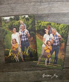 Golden Joy Holiday Card Template by frankandfrida on Etsy Christmas Card Template, Christmas Cards, Holiday 2014, Joy Holiday, Ornament Box, New Year Celebration, Holiday Photo Cards, Family Traditions, Holiday Ornaments
