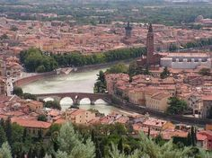 Verona, Italy. Famous for the setting of Shakespeare's literature Romeo & Juliet.