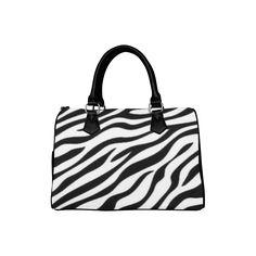 Zebra Print Boston Handbag (Model 1621) by Elena Indolfi #ArtsAdd