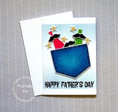 Happy Father's Day card by Pamela Ho for Paper Smooches - Daddy Yo stamps and dies, Denim & Daisies