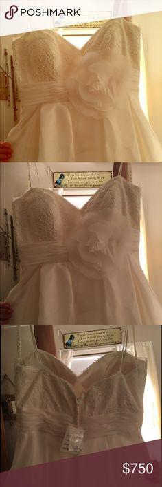Galina wedding dress- never worn, never altered Galina size 10 ivory wedding dress. Never worn, never altered, new with tags. galina Dresses Wedding