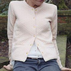 Veste femme YOUPILLE molleton rose poudré à par PetiteEtincelleETSY