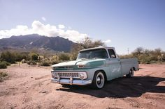 Our 1963 Chevy C10 Long fleet patina truck SBC 327 on the route to Tortilla Flats, Arizona