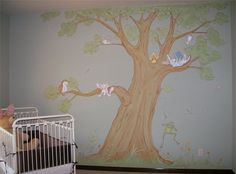 Why do I love tree wall murals so much...