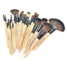 Professional 24 Pcs Brand Makeup Brushes Make Up Tool Brushes Set Black Pink Wood Color Foundation Powder Brush Kit With Bag Synthetic Hair womens shoes *** AliExpress Affiliate's buyable pin. Find out more on www.aliexpress.com by clicking the VISIT button