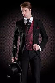 Italian Fashion Suits, Groom Suits and short tail, Fashion collection