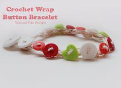 #Crochet Wrap Button Bracelet :: Rescued Paw Designs