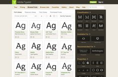 typekit.com webfonts that are available for usage included with our Adobe CC licenses.