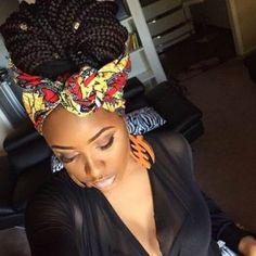 10 Cute Black Braided Hairstyles with a scarf|Designideaz