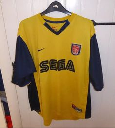 34472c82194 1999 2000 Arsenal Vintage Nike Away Football Shirt ⚽ ⚽ ⚽ More