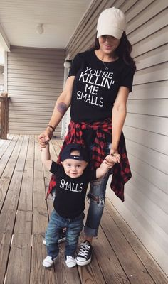 You're Killin' Me Smalls and Smalls T-Shirt Set - Mommy & Me / Daddy & Me #TShirtAddicts #CrewNeck on eBay