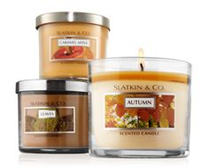 """Slatkin & Co. candles- """"Leaves"""" and """"Autumn"""""""