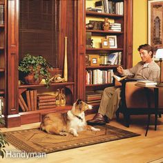 <p>learn how to use inexpensive materials like birch plywood and standard trim to build a classic, built-in wooden bookcase.</p>