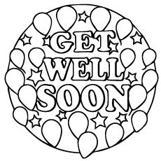 Top 25 Free Printable Get Well Soon Coloring Pages Online | Coloring ...