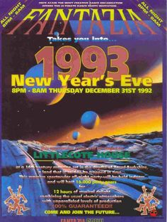 Fantazia New Years Eve 1992 Poster Deep House Music, Music Is Life, New Years Eve 90s, Festivals, Festival Flyer, Acid House, Trance Music, Partying Hard, Blog Images