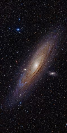 The Great Andromeda Galaxy The Andromeda Galaxy, also known as Messier 31 or NGC 224, is a spiral galaxy that is approximately 2.5 million light-years away in the Andromeda constellation. Our Milky Way and the Andromeda are expected to collide in around 3.75 billion years, eventually merging to form a giant elliptical or large disk galaxy. The collision will not effect most matter in the galaxies, However, The Gas clouds of the the two galaxies will collide and begin to form new stars.