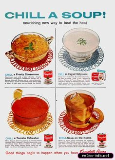 kids clamoring for jellied beef broth or cold potato soup?  Gotcha covered!