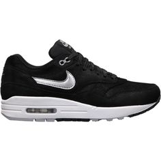 Nike Air Max 1 Premium Women's Shoes - Black, 7 ($110) ❤ liked on Polyvore