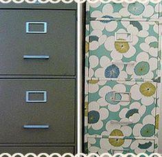 Cute update to a filing cabinet.