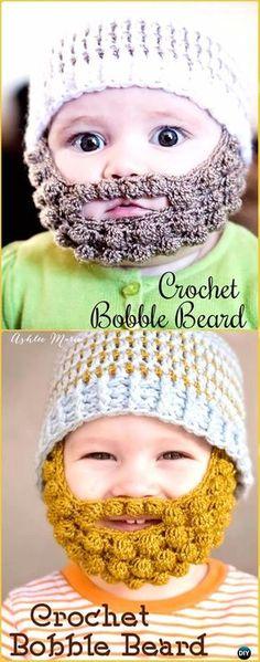 Crochet Bobble Beard Free Patterns - Crochet Baby Shower Gift Ideas Free Patterns