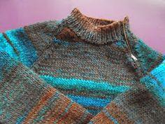ARTES-ANAS: MANGA RAGLÁN PARA NUESTRO JERSEY CON CREMALLERA Knitting Charts, Knitting Patterns, Men Sweater, Sweaters, Fashion, Crochet Baby Clothes, Knit Jacket, World, Templates