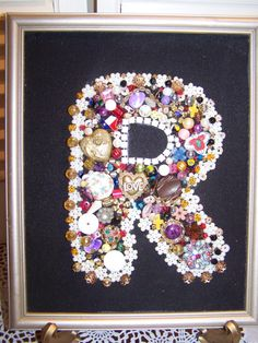 Custom Monogram Initial Jewelry ART by mypicketfencecottage, $21.99