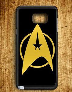 Yellow Black Star Trek Logo Samsung Galaxy Note Edge Case