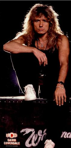David Coverdale, circa 1987; from a FACES ROCKS magazine pinup