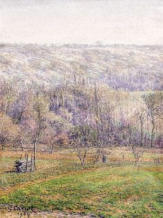 Gustave CARIOT 1872 - 1950 PAYSAGE - 1904 Huile su - by Artcurial - Briest - Poulain - F. Tajan