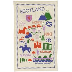 Scotland has many more places in between but this is a great addition to any kitchen! Patriotism :D Sottish map tea towel from Paperchase