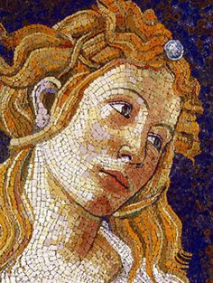 Mosaic Art by Enzo Aiello... I have noticed the best portrait mosaics have very small tiles used for the faces.