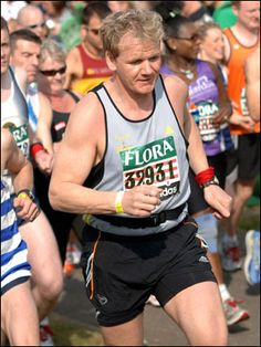 Gordon Ramsey, marathoner (yes you can love to cook and live and breathe food and still be fit)