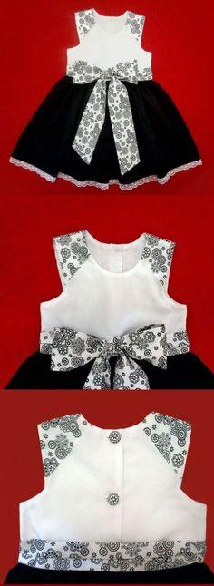 baby - infant - toddler - kids - clothes for girls - Moldes Gratuitos - Free Patterns Toddler Dress, Toddler Outfits, Kids Outfits, Infant Toddler, Little Dresses, Little Girl Dresses, Girls Dresses, Baby Dresses, Pink Dresses