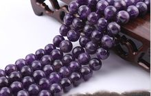 """6 8 10 12 MM Natural Stone Smooth Amethyst Quartz Loose Beads 16"""" Strand Pick Size For Jewelry Making  4Z786(China (Mainland))"""