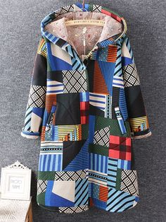 Geometric Printed Winter Thicken CoatsGeometric Printed Winter Thicken Coats