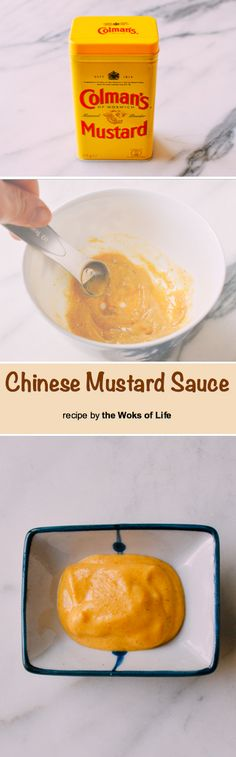 Chinese mustard is one of those condiments that you don't think of making at home yourself, but this Chinese hot mustard recipe is so quick to prepare! Chinese Hot Mustard Sauce Recipe, Abalone Recipe, Sauce Recipes, Cooking Recipes, Oriental Food, Homemade Spices, Chutneys, Asian Cooking, International Recipes