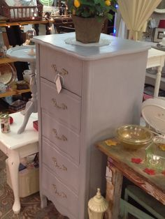Just finished this French Provincial Lingerie Chest in Annie Sloan's Paris Grey Chalk Paint