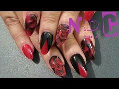 20 RED AND BLACK NAILS - NAIL ART IDEAS!   NAIL DESIGNS 82 - http://www.nailtech6.com/20-red-and-black-nails-nail-art-ideas-nail-designs-82/