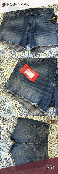 Perfect denim cut-off shorts Perfect length cut-cut off denim shorts. Evereve Gidget Frey Shorts. 1% spandex for perfect stretch and comfy movement. Great shorts for active ladies or busy moms as they are not super short! Great with your flow-y summer too and shades 😎 never worn. New with tags. Evereve Shorts Jean Shorts