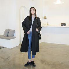 #envylook Double-Breasted Cotton Trench Coat #koreanfashion #koreanstyle #kfashion #kstyle #stylish #fashionista #fashioninspo #fashioninspiration #inspirations #ootd #streetfashion #streetstyle #fashion #trend #style