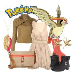 """""""Pokemon - Pidgeot"""" by marielw97 ❤ liked on Polyvore featuring Roberto Collina, Aurélie Bidermann, Rick Owens, Lucca Couture, Brooks Brothers, Rieker and FOSSIL"""